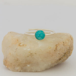 """Bague sertie """"Collection Pure"""", Apatite 6 mm"""