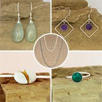 Atelier lapidaire agate et Lune, Bijoux argent 925 : boules d'oreilles, pendentifs, bagues, bracelets, chaînes