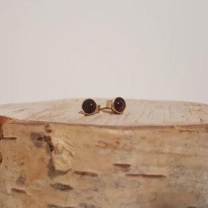 Boucles d'oreilles en or fin et pierres naturelles
