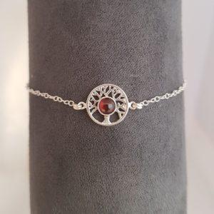 Bracelet Arbre de Vie Grenat