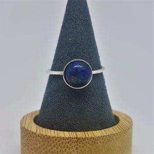 """Bague sertie """"Collection Pure"""", Lapis Lazuli, 8 mm"""